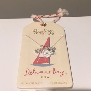 Spartina Delaware bay charm necklace nwt